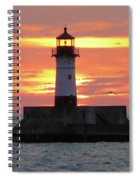 Seagulls And Sunrise Spiral Notebook