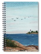 Seagulls Over Lighthouse Cove Spiral Notebook
