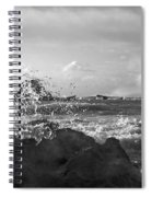 Seascape In Black And White Spiral Notebook