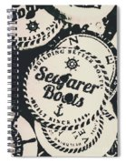 Seaside Sailors Badge Spiral Notebook
