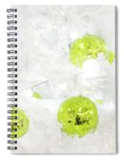 Seasons Greetings - Frosty White With Chartreuse Accents Spiral Notebook