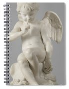 Seated Cupid, 1757 Marble Spiral Notebook