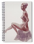 Seated Nude Woman Watercolor Spiral Notebook