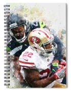 Seattle Seahawks Against San Francisco 49ers Spiral Notebook