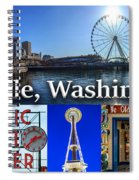 Seattle Washington Waterfront 01 Spiral Notebook