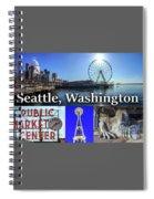 Seattle Washington Waterfront 02 Spiral Notebook