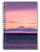 Seattle's Olympic Mountains Spiral Notebook