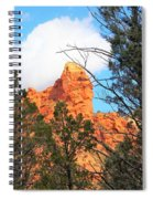 Sedona Adobe Jack Trail Blue Sky Clouds Trees Red Rock 5130 Spiral Notebook
