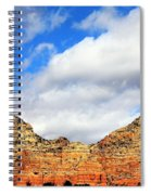 Sedona Jack's Trail Blue Sky, Clouds Red Rock Hills 5032 3 Spiral Notebook