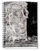 Self In Black Coloured Oil Transfer Drawing 11 Spiral Notebook