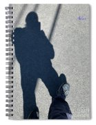 Self Portrait 19 - Balancing With My Shadow Spiral Notebook