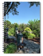Self Portrait 20 - Aligned With A Half Moon Over Downtown Austin At Zilker Botanical Garden Spiral Notebook