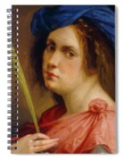 Self Portrait As A Female Martyr 1615 Spiral Notebook