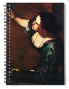 Self Portrait As The Allegory Of Painting 1639 Spiral Notebook