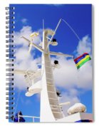 Semi-large Ship's Radar Tower And Headlights. Spiral Notebook