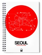Seoul Red Subway Map Spiral Notebook