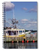 Serene Day Fisherman's Cove  Spiral Notebook