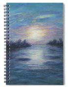 Serene River Sunset Spiral Notebook