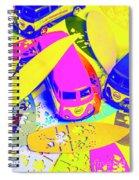 Seventies Surf Scenes Spiral Notebook