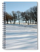 Shadows In The Snow Spiral Notebook