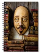 Shakespeare With Old Books Spiral Notebook