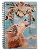 Shaman Mask And Wolf Spiral Notebook