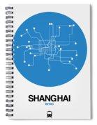 Shanghai Blue Subway Map Spiral Notebook