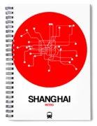 Shanghai Red Subway Map Spiral Notebook