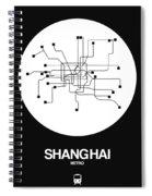 Shanghai White Subway Map Spiral Notebook
