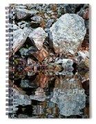 Shawanaga Rock And Reflections Vi Spiral Notebook