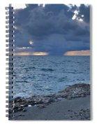 Shoreline Rain Clouds Spiral Notebook