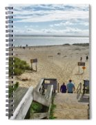 Shoreline Staircase By Uscg Station Chatham Cape Cod Massachusetts Spiral Notebook