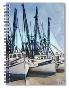 Shrimp Boats At Darien Spiral Notebook