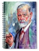 Sigmund Freud Portrait II Spiral Notebook