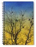 Silhouette Birds Sequel Spiral Notebook
