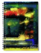 Silk-featherbrush Number 4 - All-night Vigil At The Lighthouse Blues Club Spiral Notebook