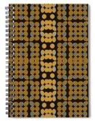 Silver And Gold Ezekiel Spiral Notebook