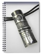Silver Pendant Spiral Notebook