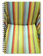 Sitting On Stripes Spiral Notebook
