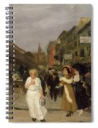 Sixth Avenue And Thirtieth Street, New York City, 1907 Spiral Notebook