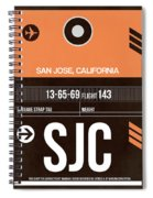 Sjc San Jose Luggage Tag II Spiral Notebook