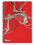 Skeleton Dragon With Red Spiral Notebook