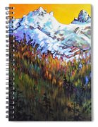 Sky Pilot And Co-pilot Peaks, Coastal Range, South Of Squamish, British Columbia Spiral Notebook