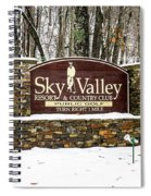 Sky Valley Georgia Welcome Sign In The Snow Spiral Notebook