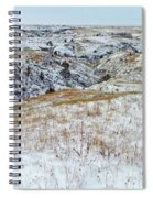 Slope County Snowfall Spiral Notebook