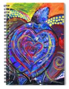 Sloppy Sea Turtle Love Spiral Notebook