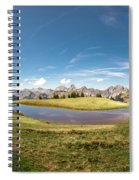 Small Lake In The Mountains Spiral Notebook