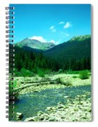 Small Stream Foreground The Rockies Spiral Notebook