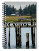 Small Village Along The Columbia River Spiral Notebook