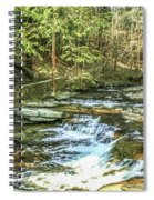 Small Waterfall In Creek And Stone Stairs Spiral Notebook
